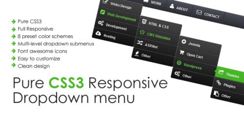 Pure CSS3 Responsive Drop down Menu