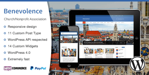 Benevolence - Church, Nonprofit WordPress Theme