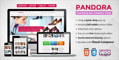 Pandora - Responsive WooCommerce HTML5 Theme