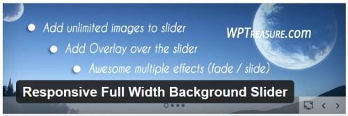 Responsive Full Width Background Slider