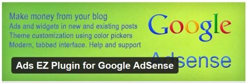 Ads EZ Plugin for Google AdSense