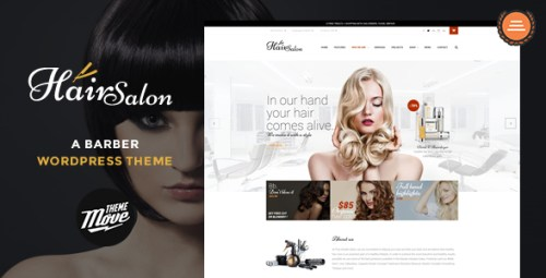 Hair Salon - A Barber WordPress Theme