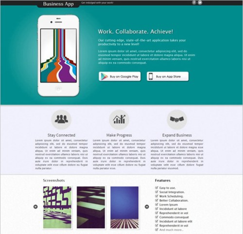 Business App Landing Page
