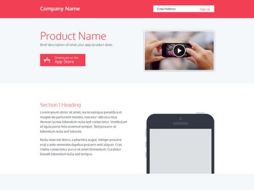 Responsive Product Page Template