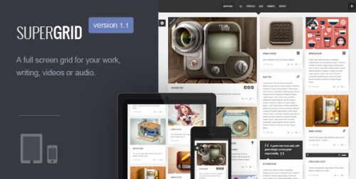 Super Grid - Fullscreen Grid Based Portfolio/Blog Theme