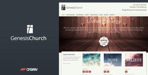 Genesis Church - Responsive WordPress Theme