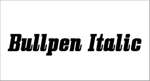 Cool Bullpen Italic Font