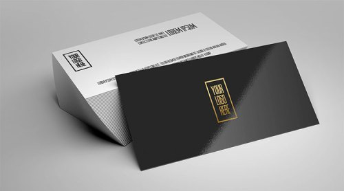 Foil Business Card Mockup