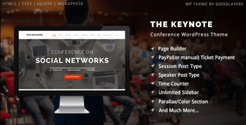 The Keynote - Conference and Meeting WordPress Theme