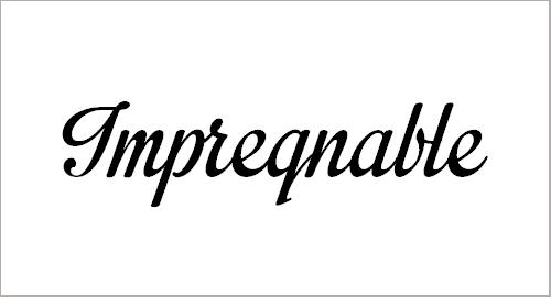 Impregnable Font