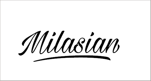 Milasian Thin Font