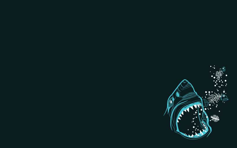 Shark Minimalist Wallpaper
