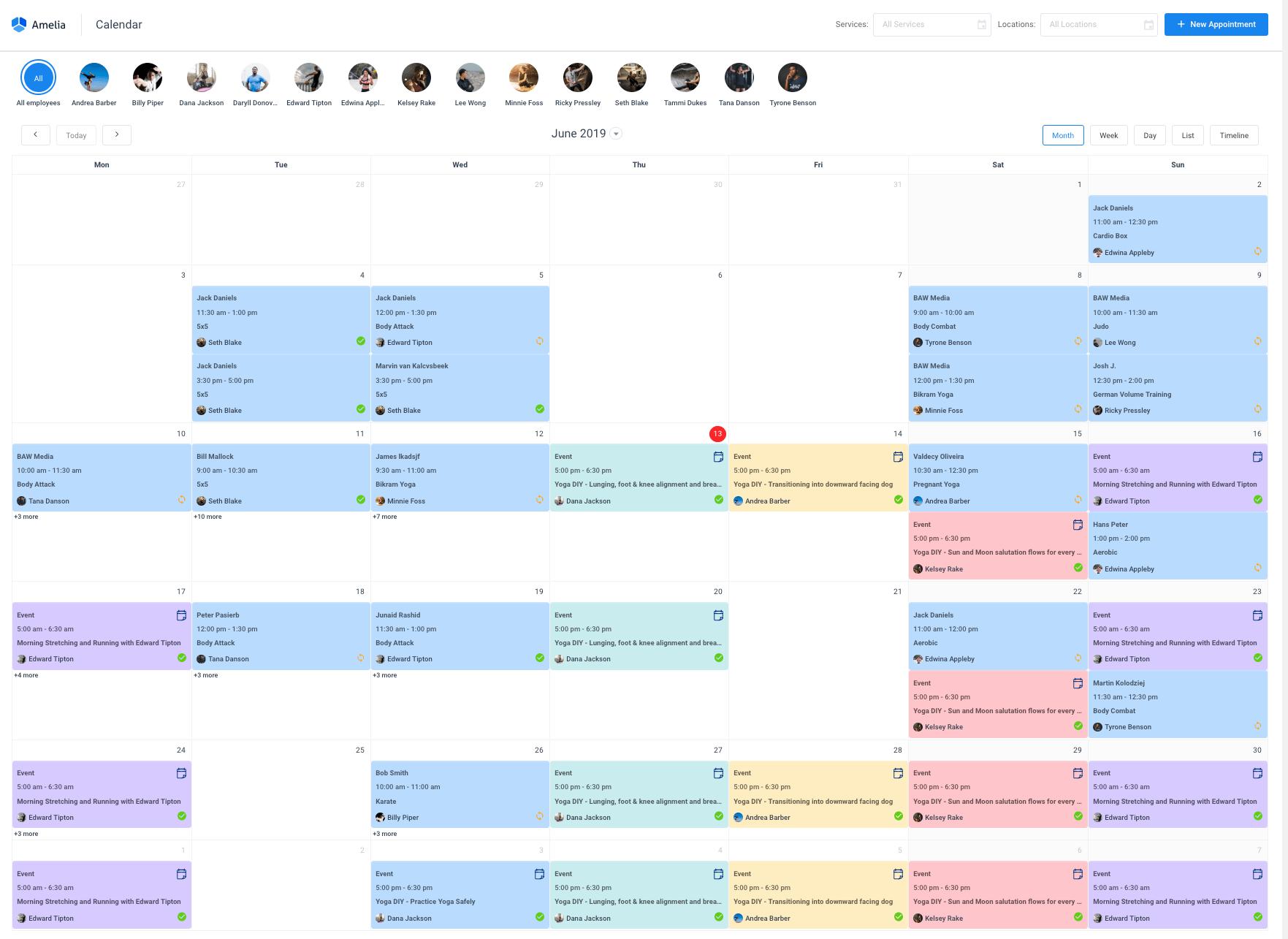 managing calendar amelia booking