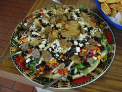Judge's Option 1st Place: Shirley Caseman - Greek Dip with homegrown Oyster mushrooms