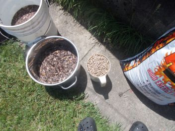 """Pace the mulch in boiling water for 20 minutes to soak and """"sterilize""""it."""