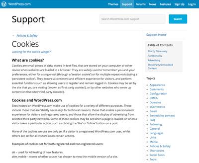 Cookies-support