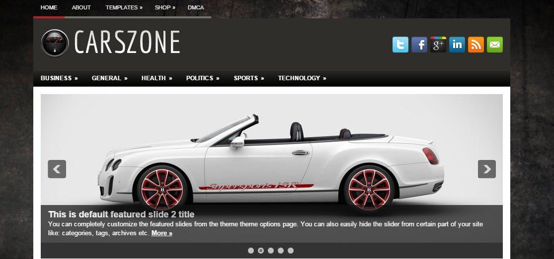 Car Dealer Automotive WordPress Theme Free