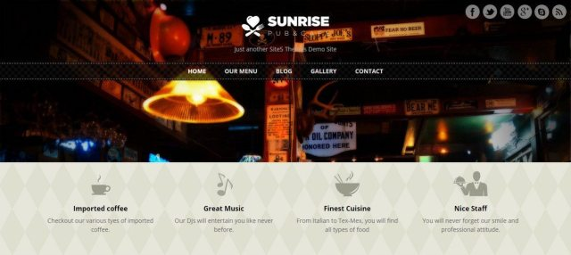 free restaurant WordPress themes