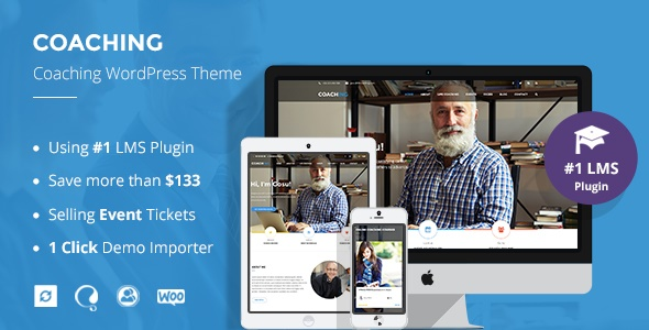 Review: Speaker and Life Coach WordPress Theme   Coaching WP