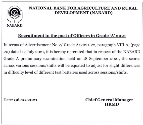 NABARD Grade A Result 2021 Out, Check NABARD Result_60.1