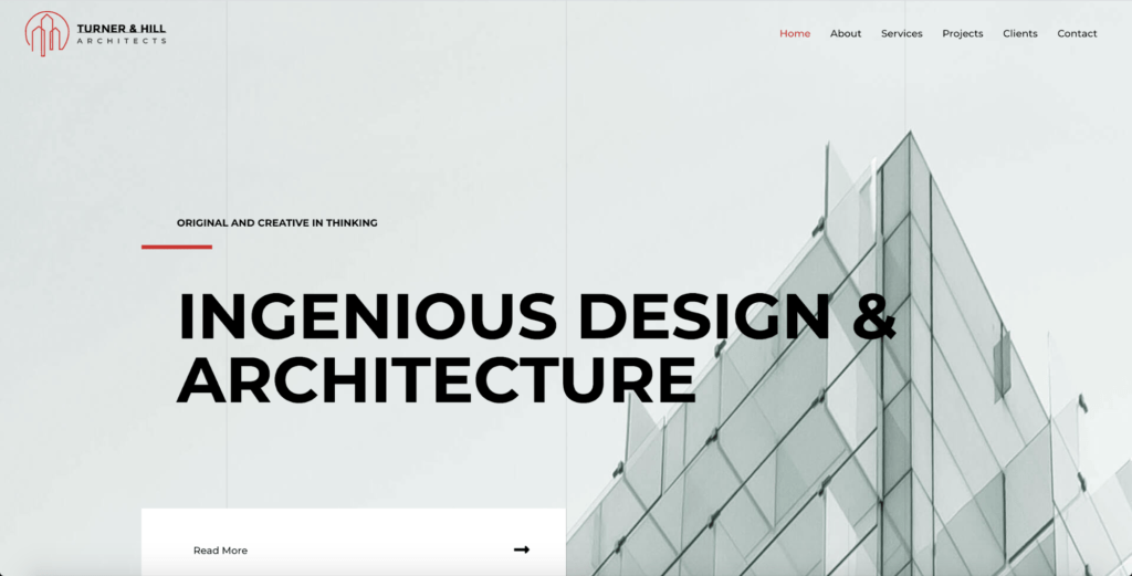 architecture firm astra starter site