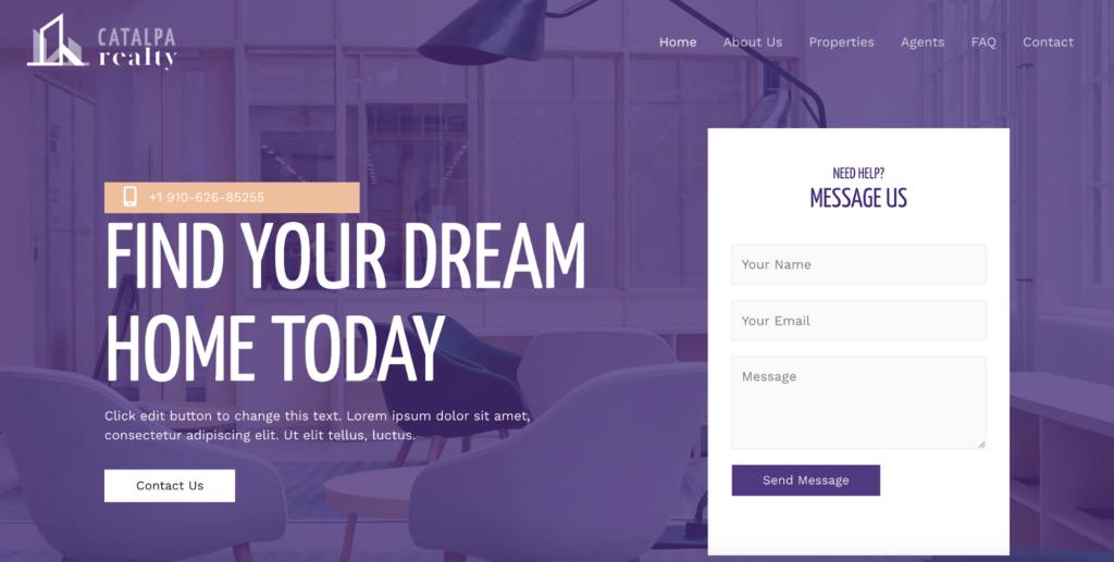 real estate astra starter site