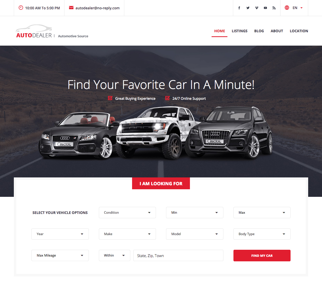 auto listings demo