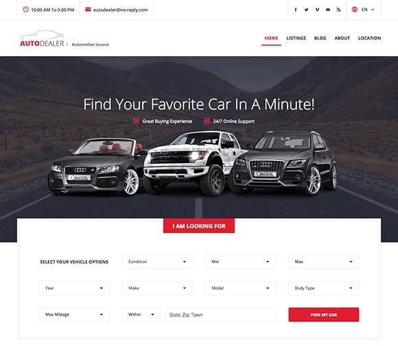 auto listings theme demo