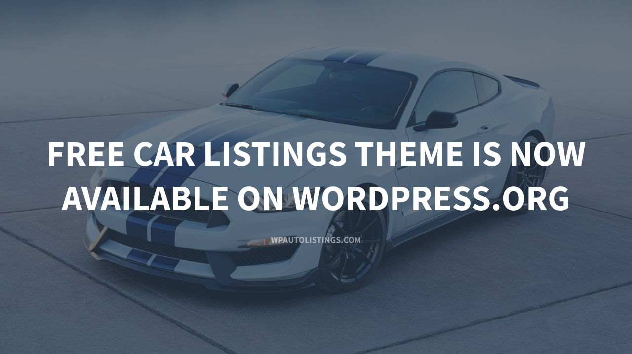 Free Car Listings WordPress Theme is now available on WordPress.org