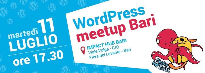 banner meetup WordPress Luglio 2017