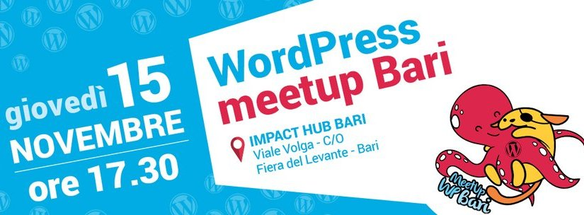 WordPress Bari ~ meetup Novembre 2018