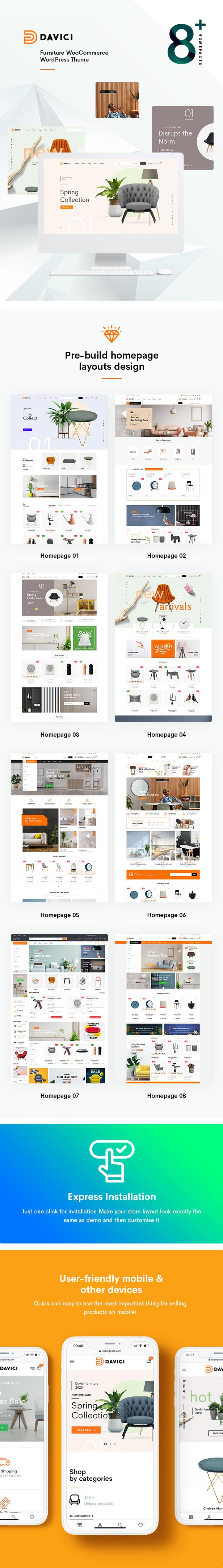 Davici – Furniture WooCommerce WordPress Theme