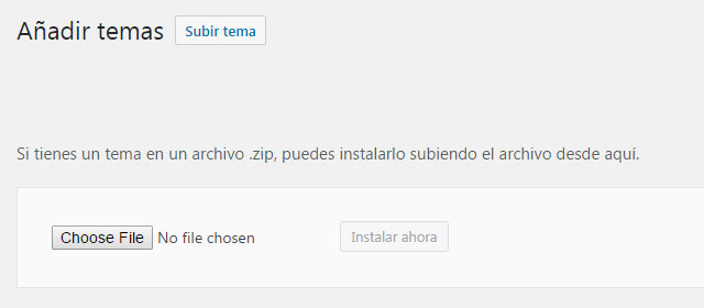 Subir tema de WordPress por FTP