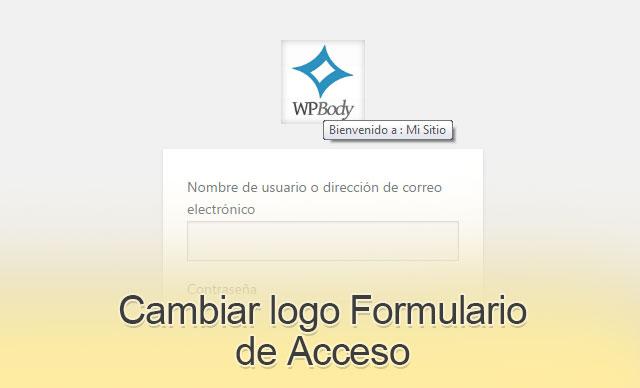 Cambiar Logo Formulario de Acceso en WordPress