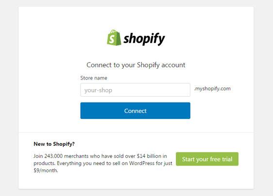 Conectar Shopify con tu sitio web WordPress