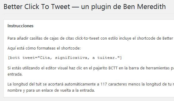Plugin Better Click To Tweet de WordPress para compartir contenido en redes sociales