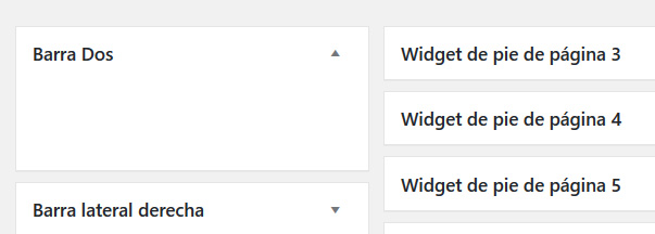 Insertar Nueva barra lateral en Widgets de WordPress