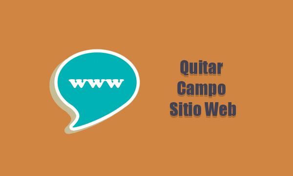Quitar Campo de Sitio Web del Fromulario de Comentarios