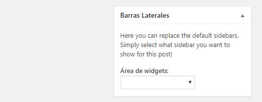 Elegir una barra lateral personalizada a entrada de WordPress