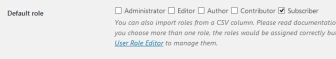 Seleccionar los roles de usuario predeterminados al importar usuarios en WordPress