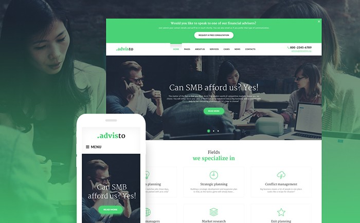 Financial Planning WordPress Theme