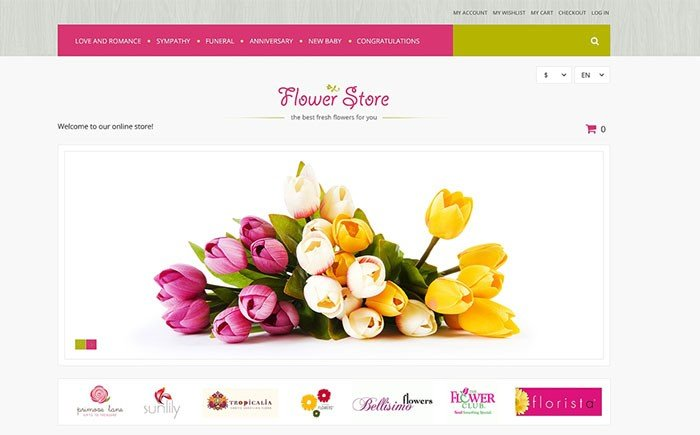 Florists Offerings Magento Theme