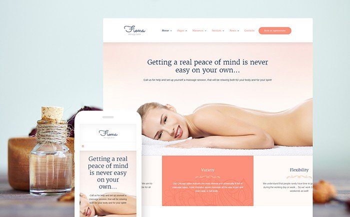 Fiona - Massage Salon Responsive WordPress Theme