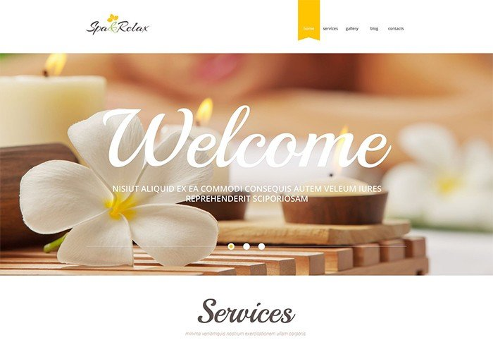 Spa and Relax Accessories Responsive WordPress Theme