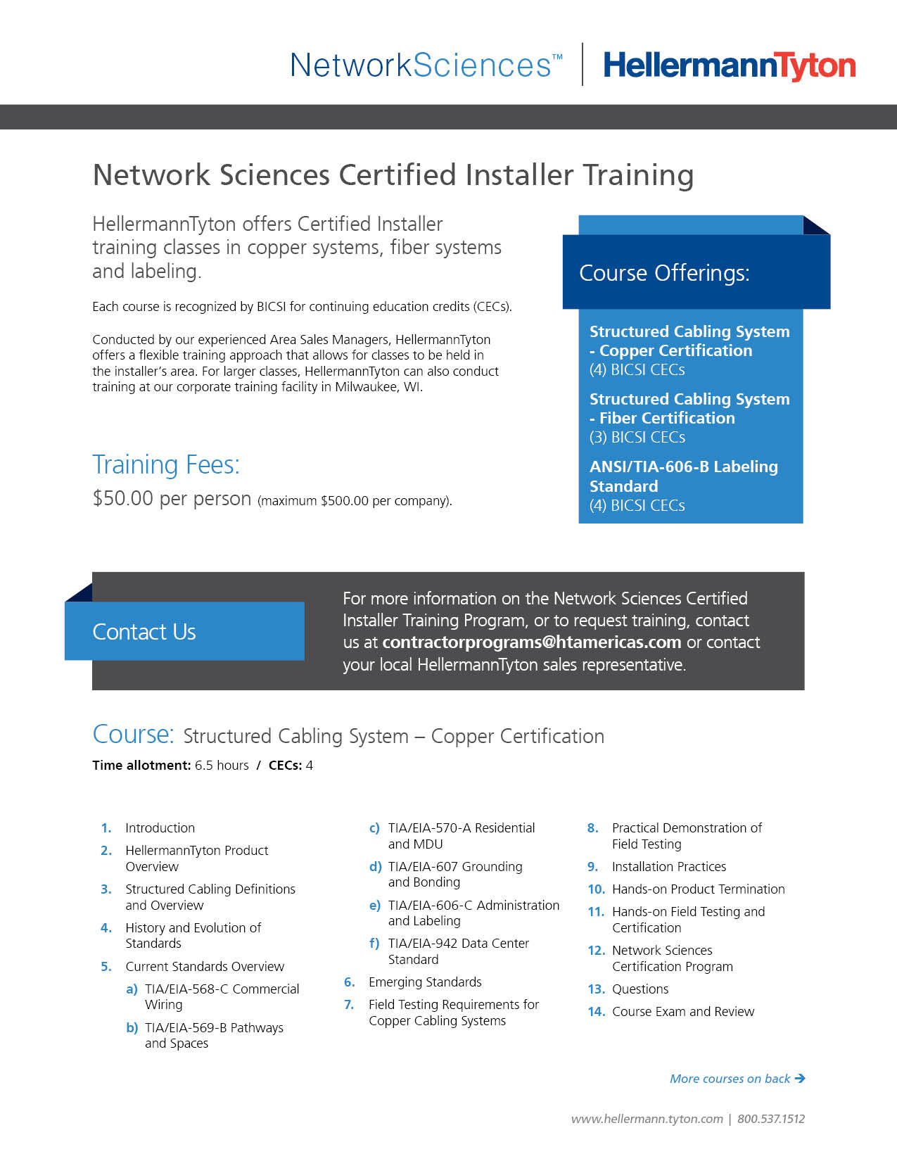 hight resolution of network sciences certified installer training