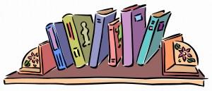 Comic-style bookshelf