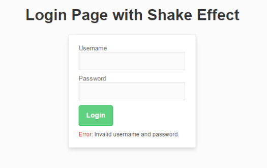 remove wordpress login shake effect