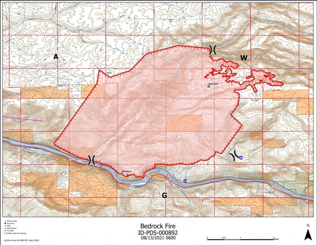 There is an evacuation in place for the communities near bodie canyon, saddler creek, and slippery slope trail. Fema Authorizes Funds To Help Fight Bedrock Fire In Idaho Kxly