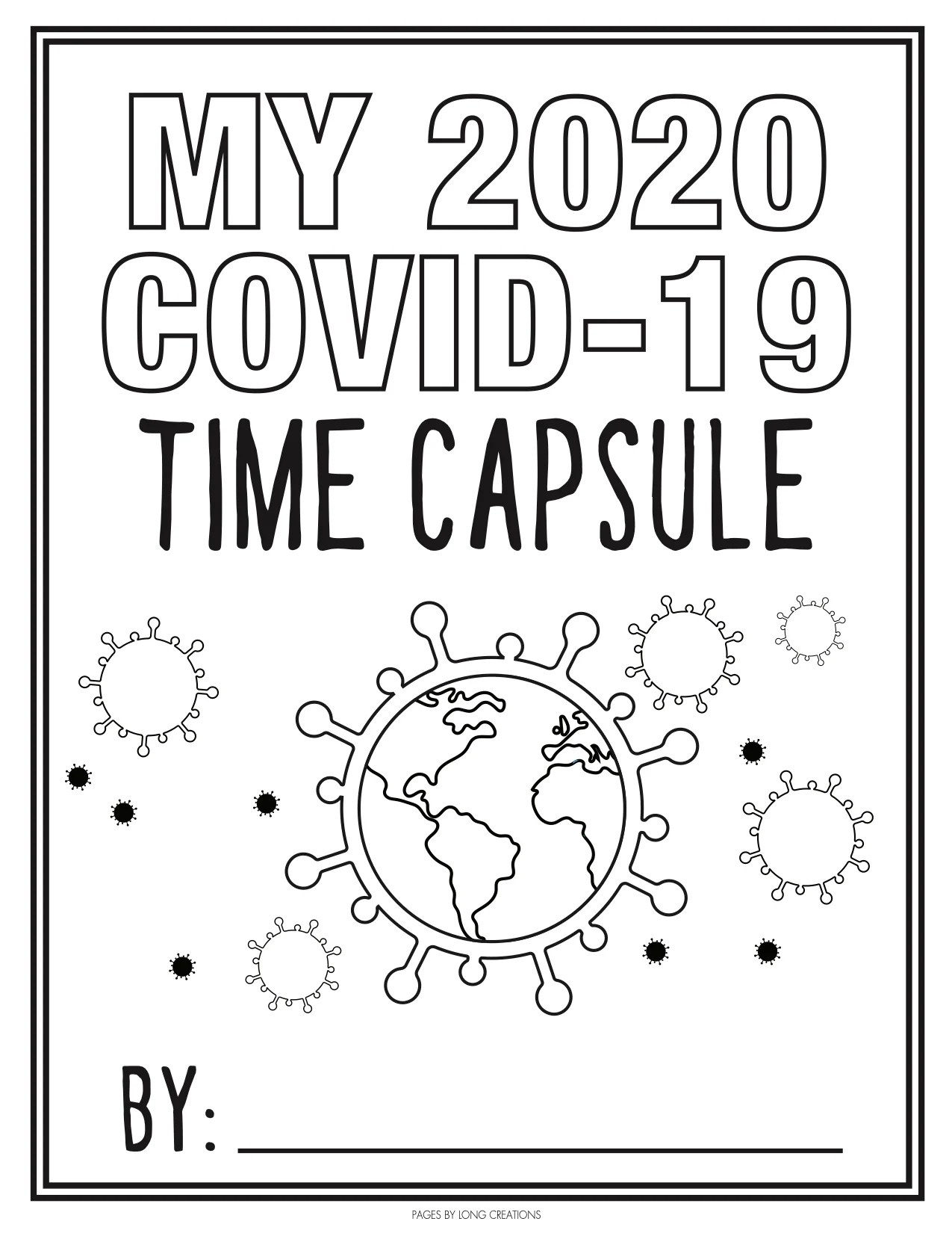 Children S Activity Covid 19 Time Capsule