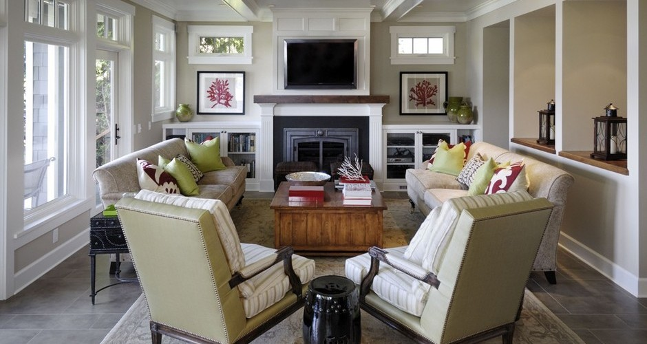 7 Ways To Arrange A Living Room With A Fireplace Porch